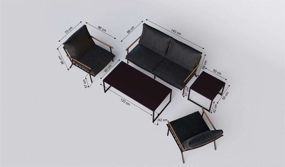 """Комплект садовой мебели из алюминия """"Calma"""""""