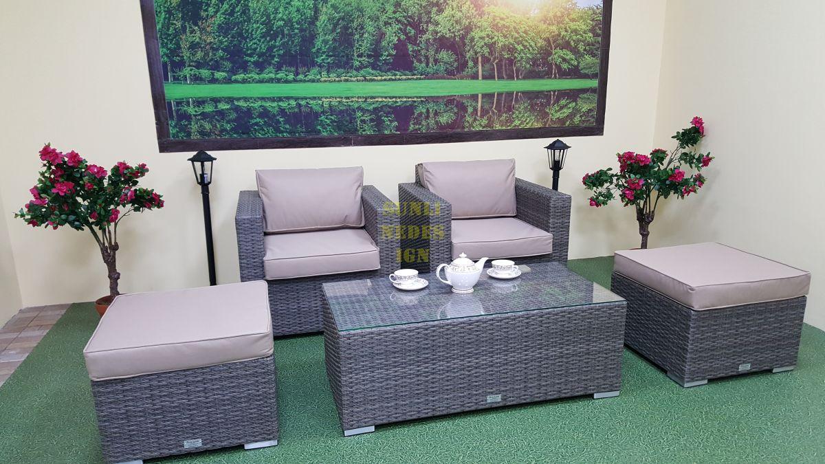 "Плетеная мебель ""Allegro"" natur&beige balcony set"