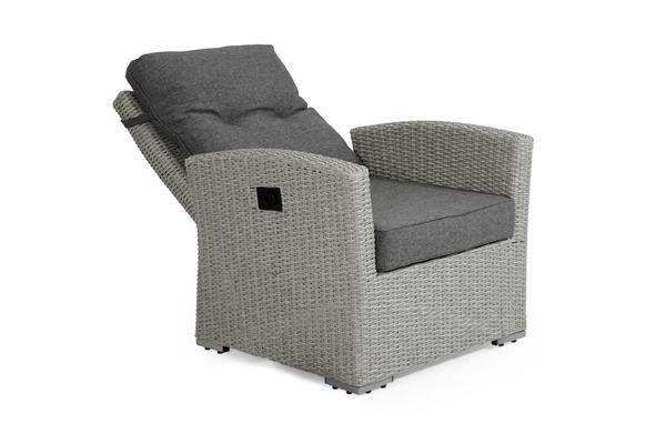 """Кресло из искусственного ротанга """"Ashfield"""" grey позиционное"""