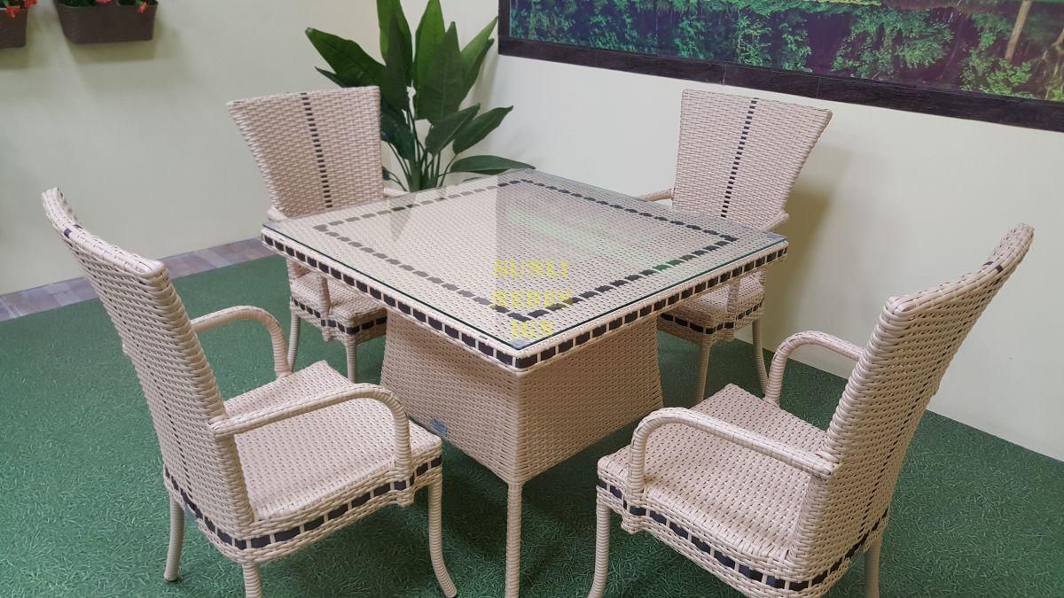 """Мебель из искусственного ротанга """"Aura"""" beige 4 + 90"""