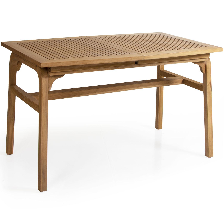 """Раскладной стол из тика """"Volos"""", 132/192×80 см"""
