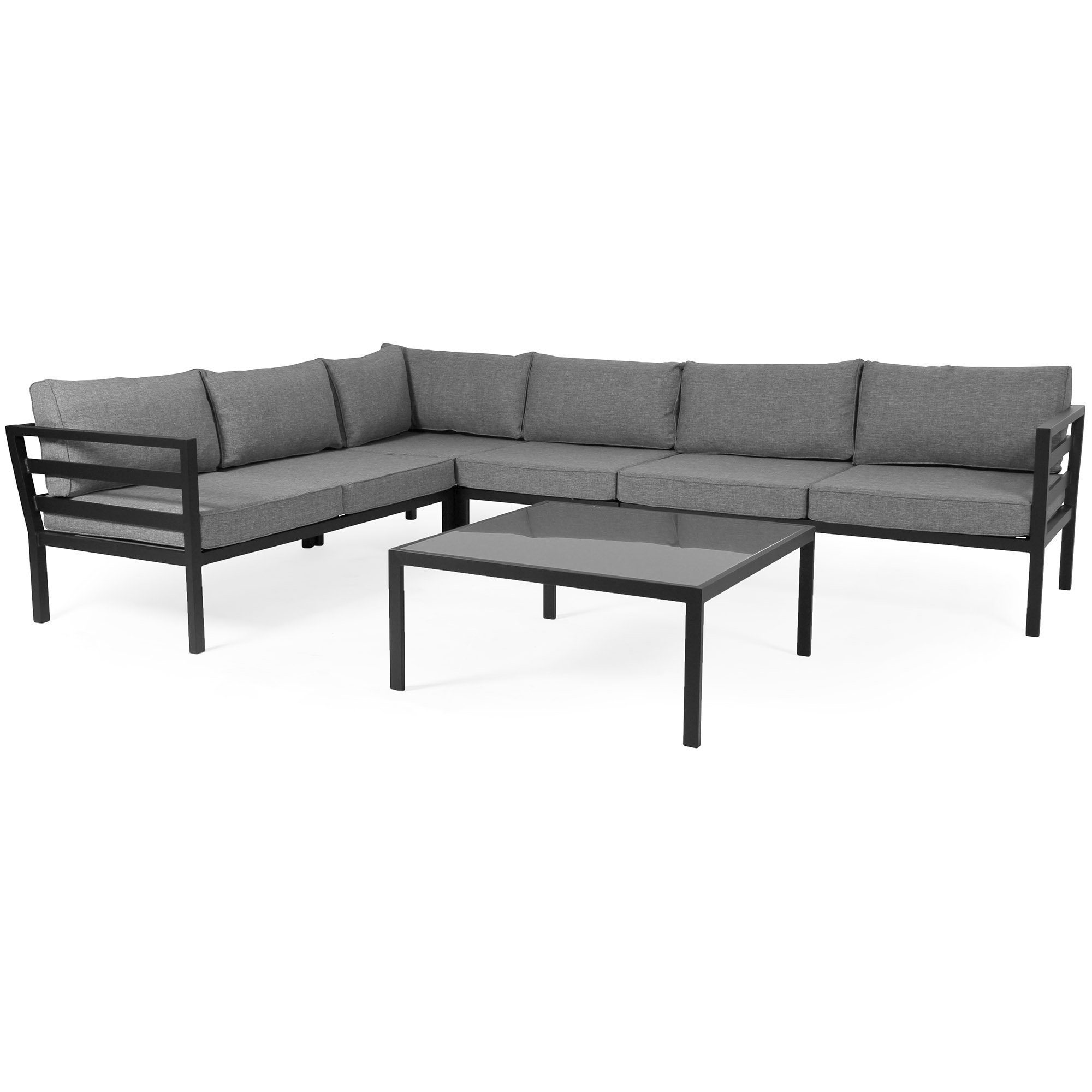 "Стол садовый ""Leone"" 90х90 см, цвет черный Brafab"
