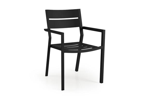 """Кресло садовое алюминиевое """"Delia"""" черный Brafab"""