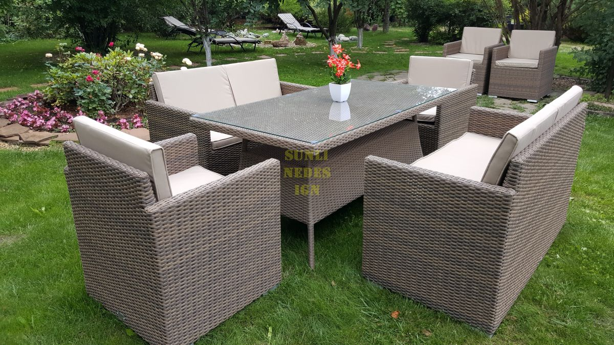 "Комплект плетеной мебели ""Infinity & Samurai"" dining patio set"
