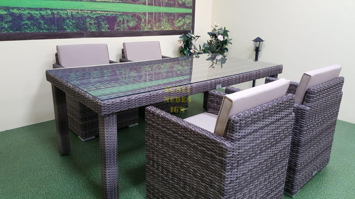 """Плетеная мебель """"Infinity"""" 200 brown grey 4"""