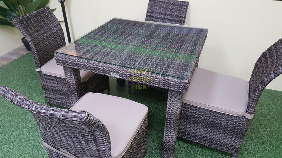 "Плетеная мебель ""Infinity & Rose"" brown grey 4"