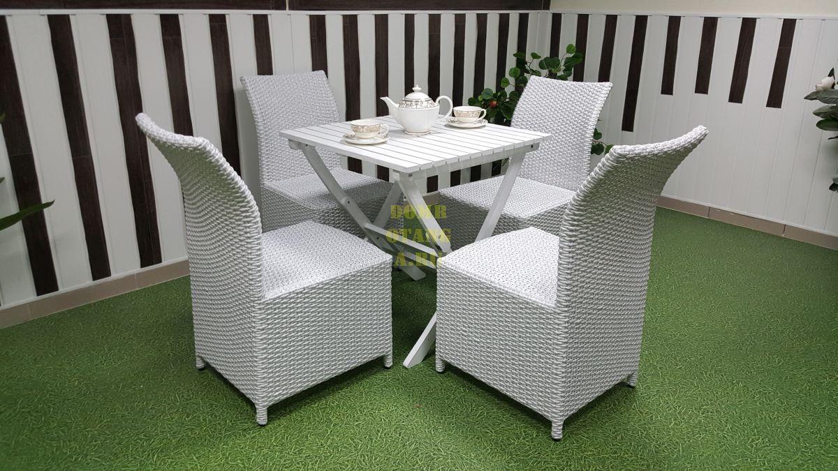 """Комплект плетеной мебели """"Arizona"""" 4 white"""