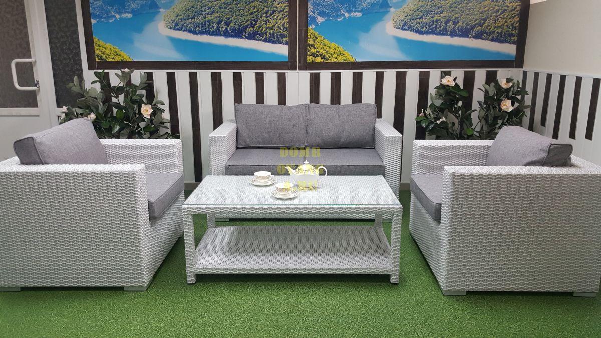 "Комплект плетеной мебели ""Louisiana"" lounge white & grey"