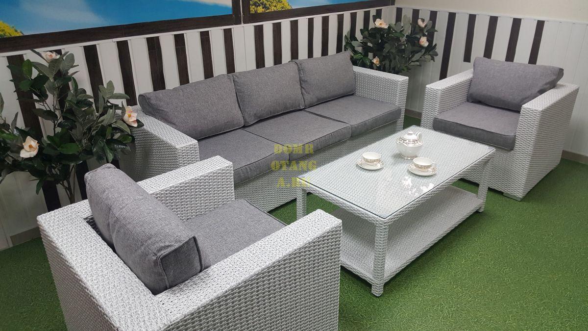 "Комплект плетеной мебели ""Louisiana"" white & grey"