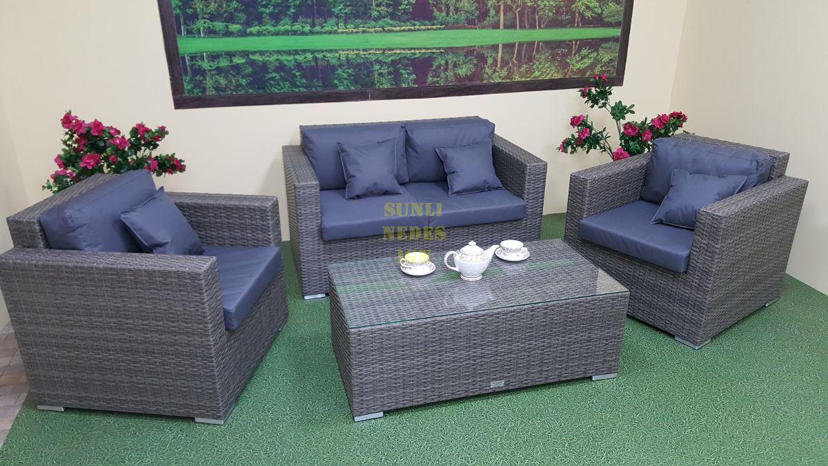 """Плетеная мебель """"Allegro"""" natur&grey set 3"""