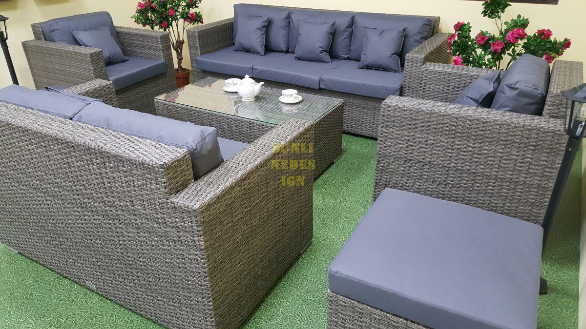 """Плетеная мебель """"Allegro"""" natur&grey"""