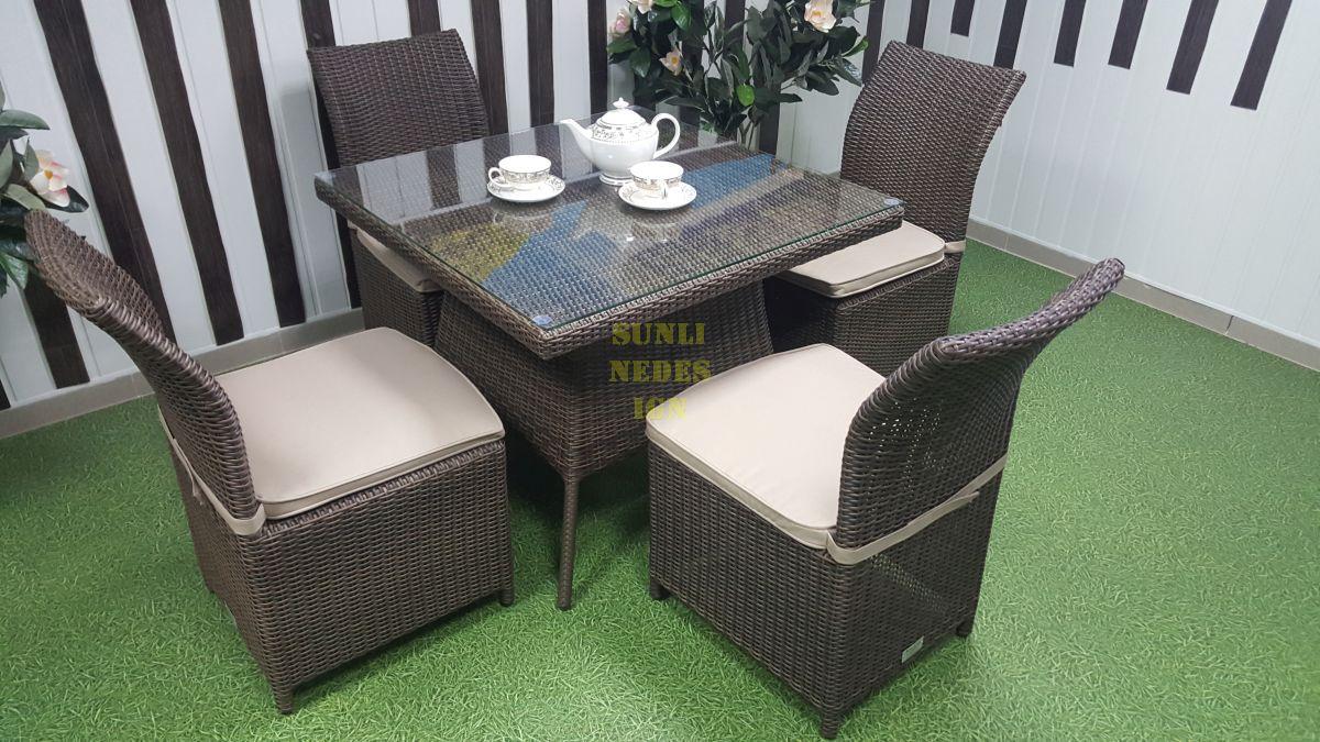 """Комплект плетеной мебели """"Rose"""" royal brown 4"""