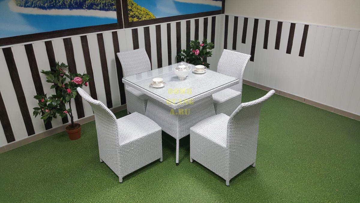 "Комплект плетеной мебели ""Rose"" 4 white"