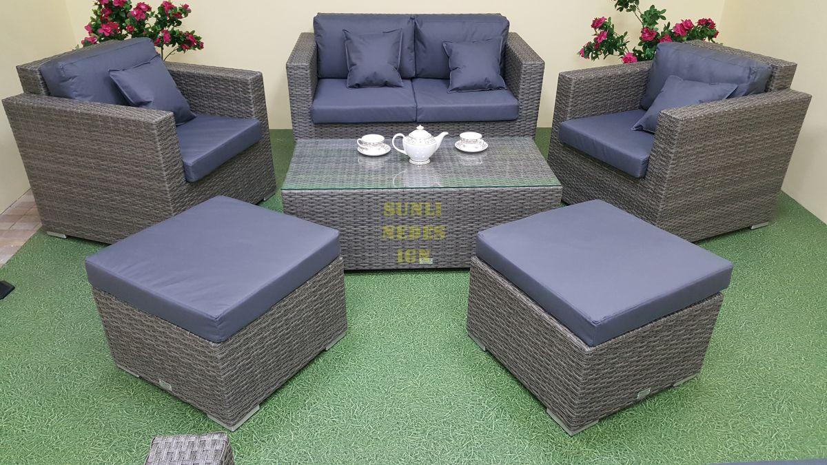 """Плетеная мебель """"Allegro"""" natur&grey set 4"""