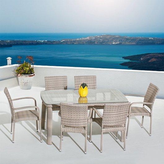 "Плетеная мебель ""Aventura Seis Dining"" Mi Casa"