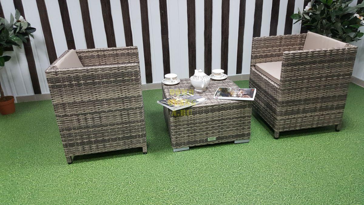 """Комплект плетеной мебели """"Barbados"""" cafe 2 set"""