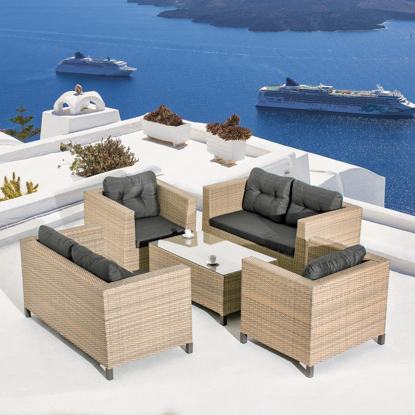 """Плетеная мебель """"Cubo Seis Lounge"""" Mi Casa"""