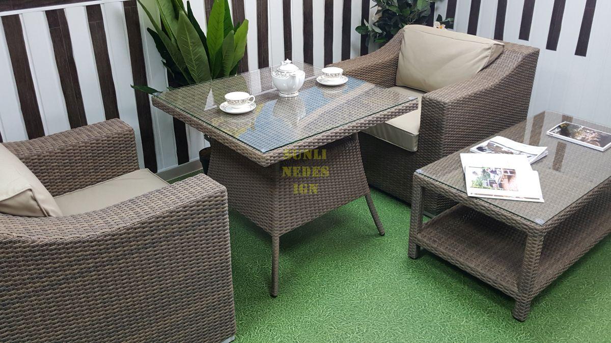 "Комплект плетеной мебели ""Glendon"" dining & cofe"