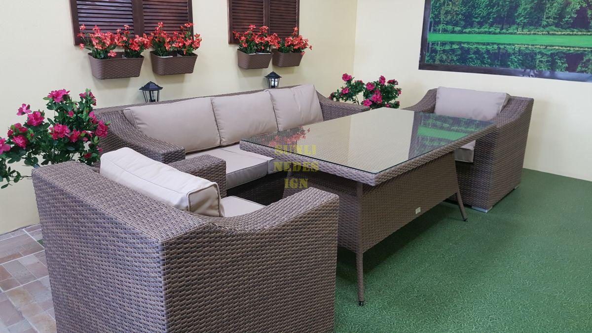 "Комплект плетеной мебели ""Glendon"" dining beige"