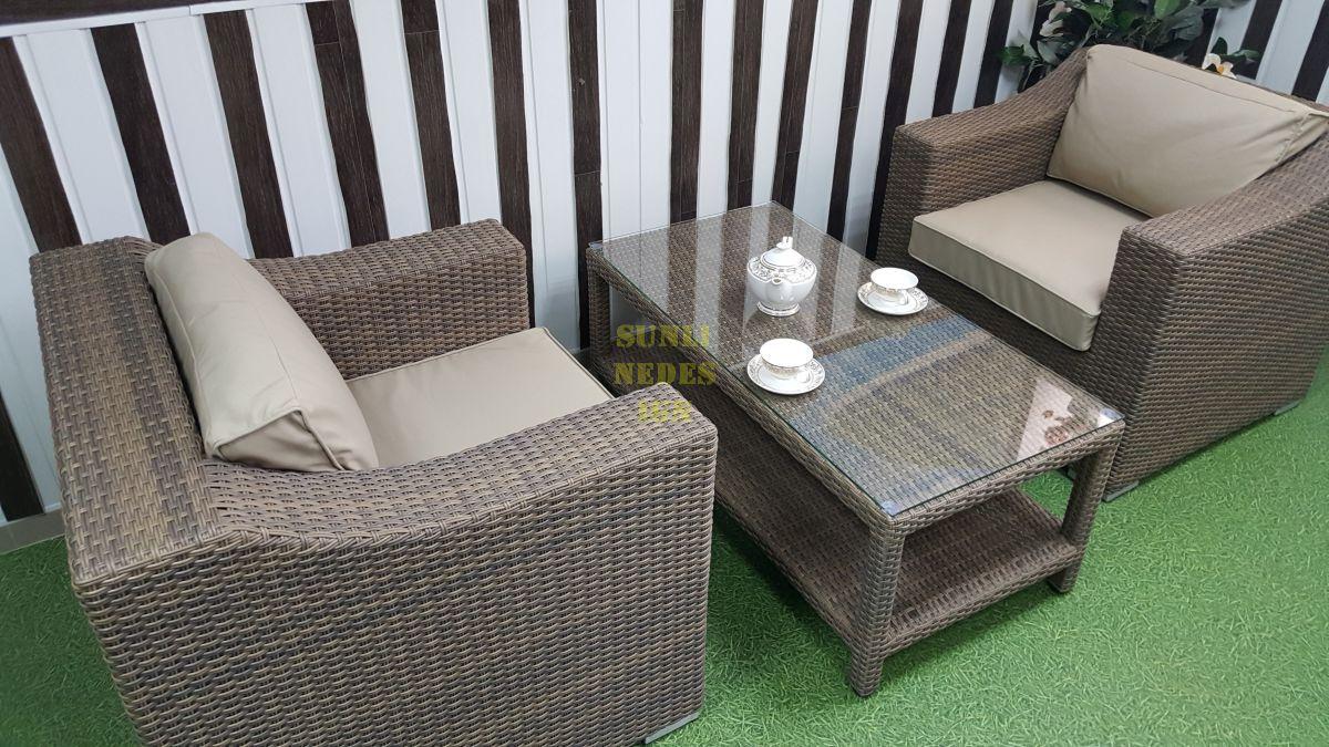 """Комплект плетеной мебели """"Glendon"""" royal beige 3Set"""