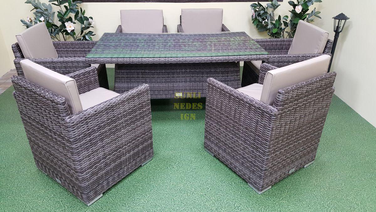 "Плетеная мебель ""Infinity & Samurai"" brown grey"