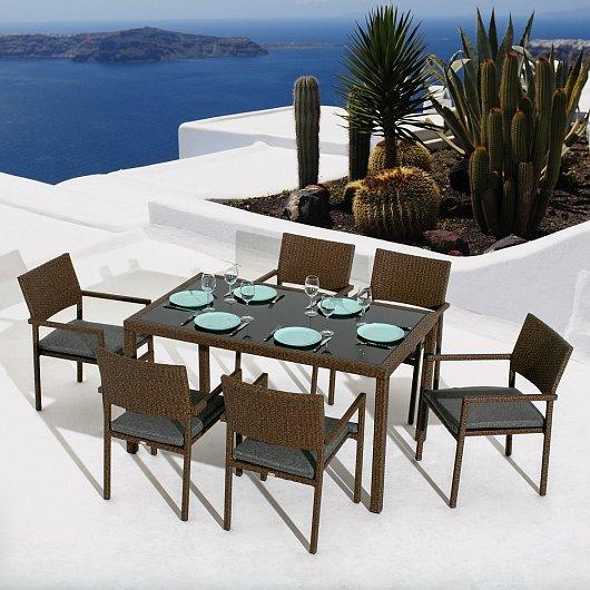 """Плетеная мебель """"Roca Seis Dining"""" Mi Casa"""