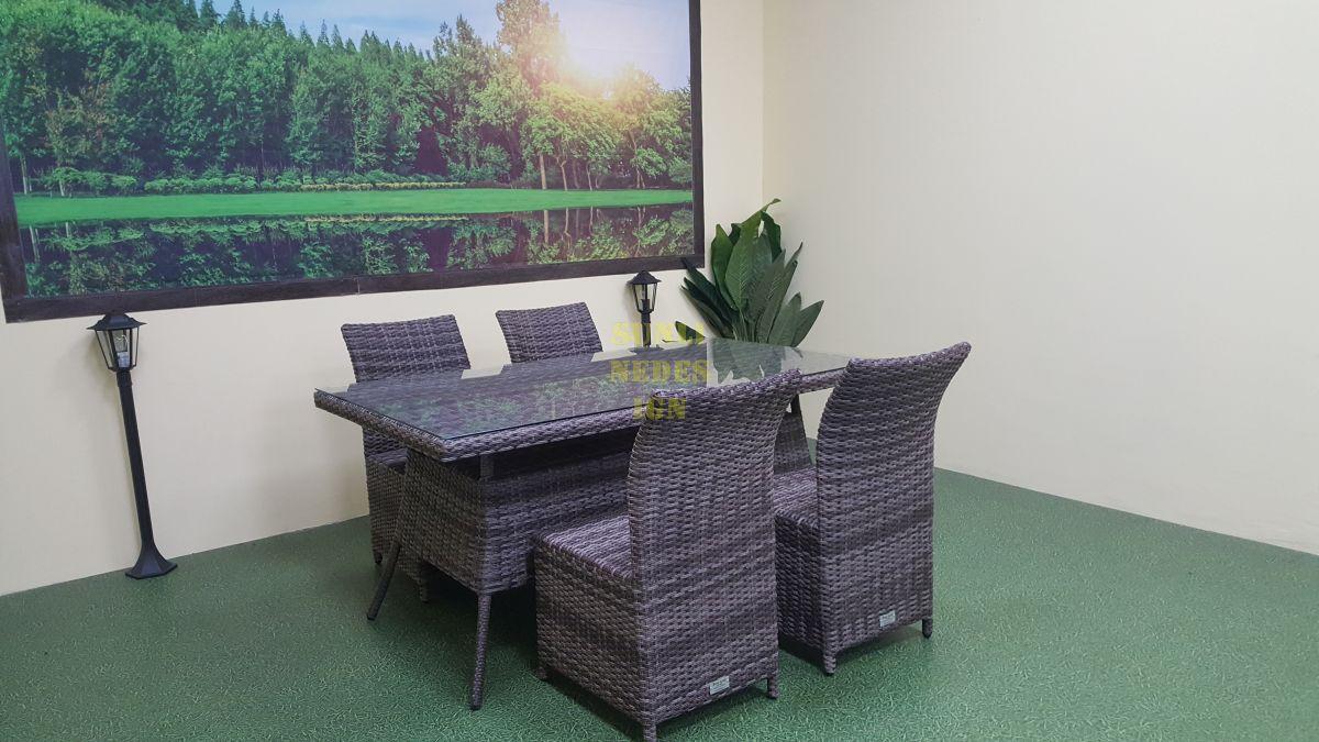 "Плетеная мебель ""Rose"" brown grey 4"
