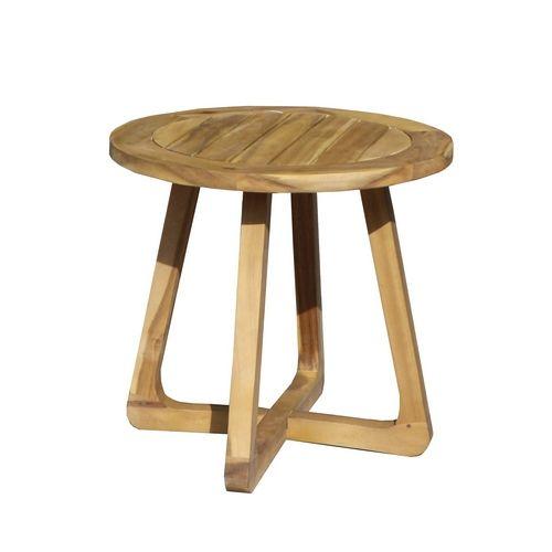 """Садовый кофейный стол из акации """"ROUND"""""""