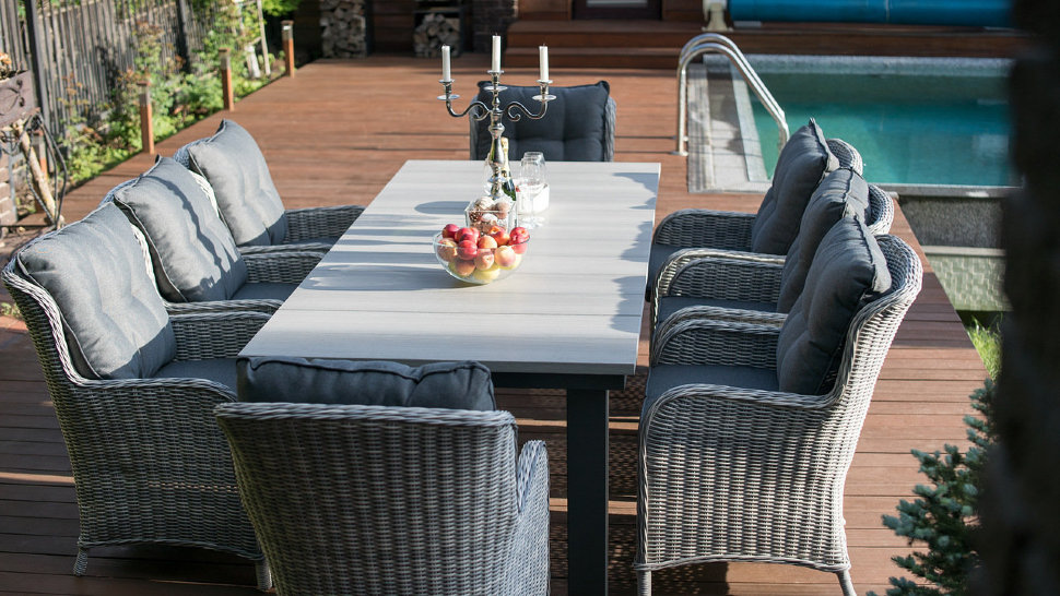"""Плетеное кресло """"Бергамо"""", цвет серый"""
