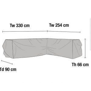 Чехол для углового дивана, 254/330x90x66 см