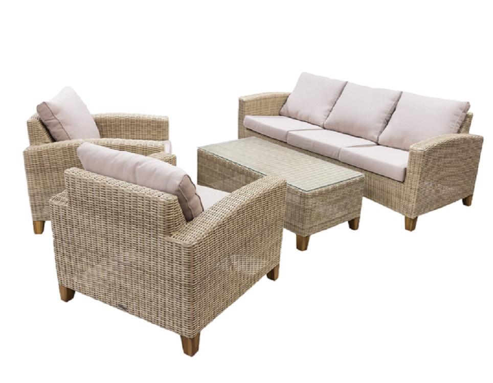 """Комплект плетеной мебели """"Minerva"""" c кофейным столиком"""