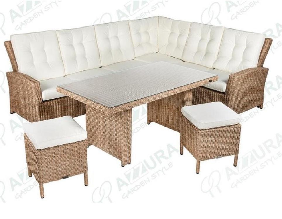 "Комплект плетеной мебели ""Orlando"" с угловым диваном"