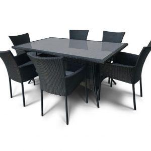 """Плетеная мебель """"Медина"""", цвет черный"""