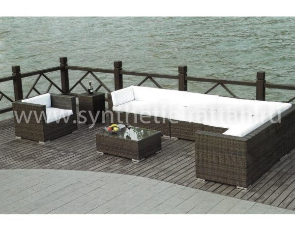 """Плетеная садовая мебель """"Barbados Lounge (серый мокко)"""""""