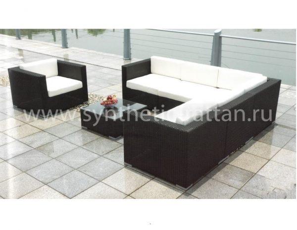 """Плетеная садовая мебель """"Barbados Lounge (черный графит)"""""""