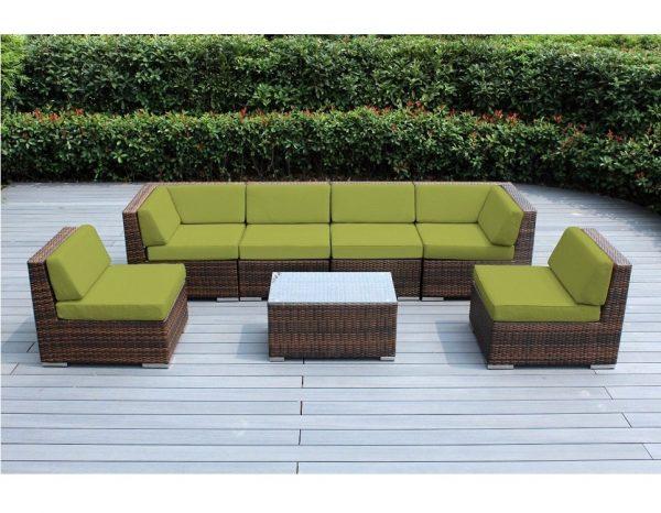 """Плетеная мебель """"Аларо"""", цвет коричневый/зеленый"""
