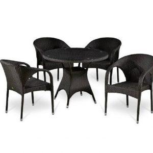 """Плетеная мебель """"Аврора"""", цвет коричневый"""