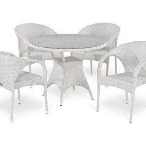 """Плетеная мебель """"Аврора"""", цвет белый"""