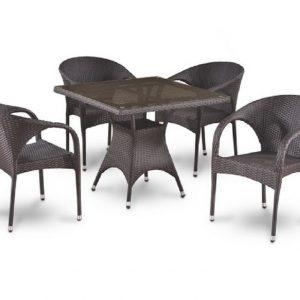 """Плетеная мебель """"Азалия"""", цвет коричневый"""