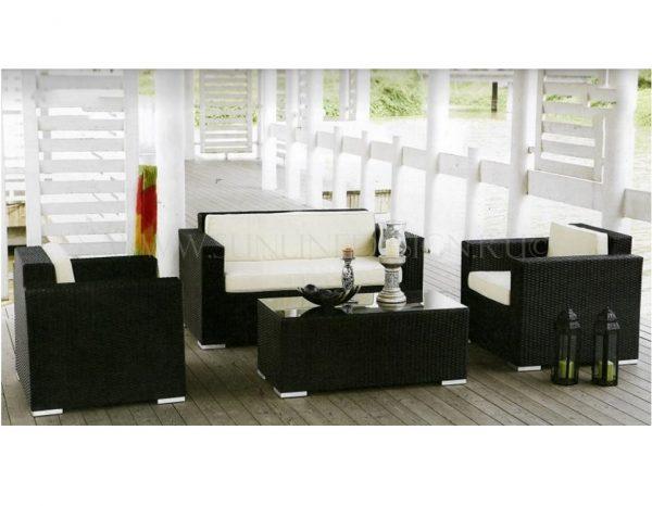 """Плетеная садовая мебель """"Acoustic"""" black"""
