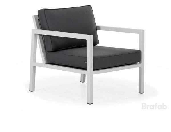 """Кресло садовое """"Belfort"""", цвет белый/антрацит Brafab"""