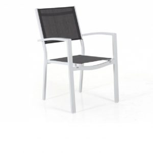 "Кресло из текстилена ""Leone"", цвет белый/серый Brafab"