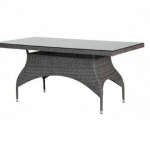 Стол из ротанга «Ninja grey» 110х65 см Brafab