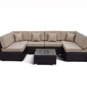 """Плетеная мебель """"Аларо"""", цвет коричневый"""