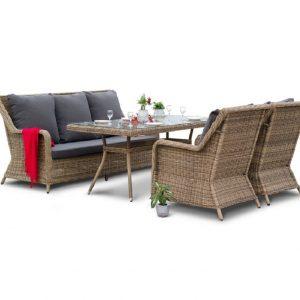 """Комплект плетеной мебели """"Гляссе"""", обеденная группа"""