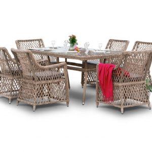 """Комплект плетеной мебели """"Латте"""", обеденная группа"""