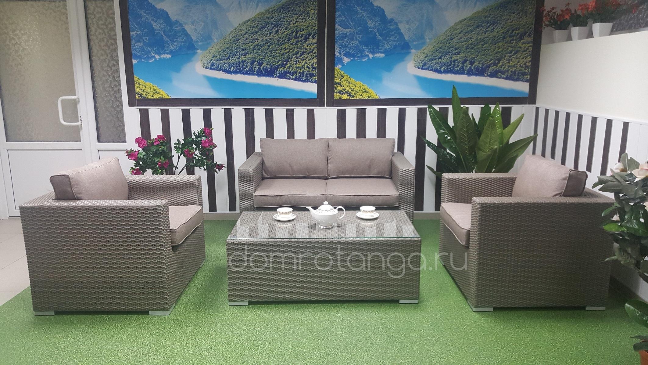 Плетеная мебель «Louisiana» lounge mocco