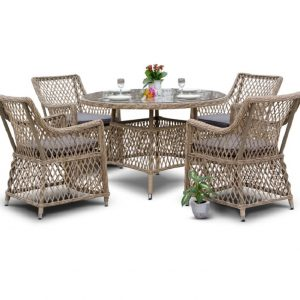 """Комплект плетеной мебели """"Доппио"""", обеденная группа"""