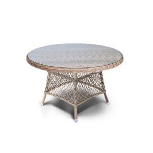"""Стол обеденный из искусственного ротанга """"Эспрессо"""", диаметр 120 см"""
