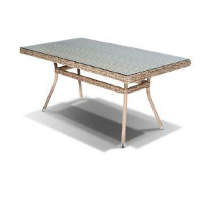 """Стол обеденный из искусственного ротанга """"Латте"""" 160×90 см"""